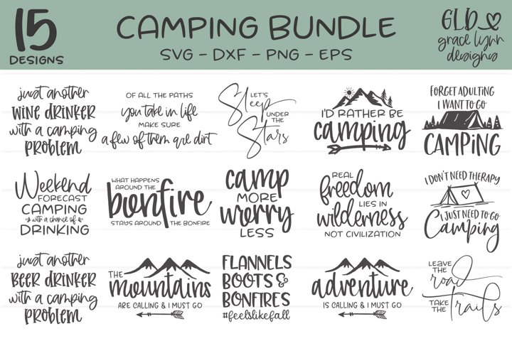 Camping Bundle - 15 Camping Designs
