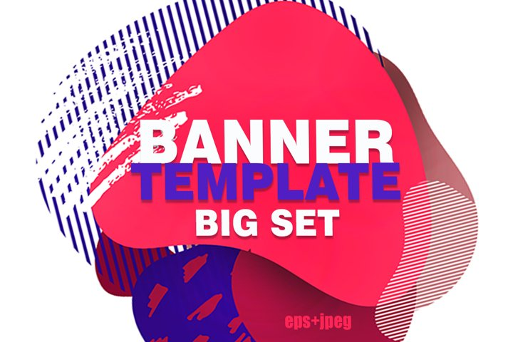 Banner instagram template big set