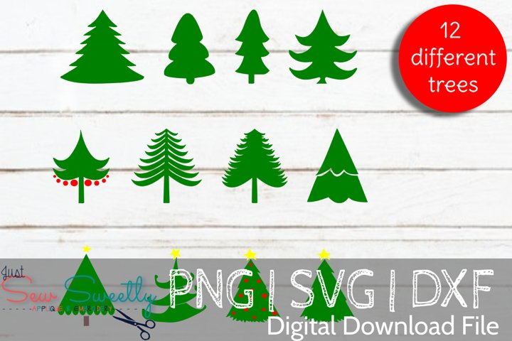 Christmas Trees Bundle SVG Cut File
