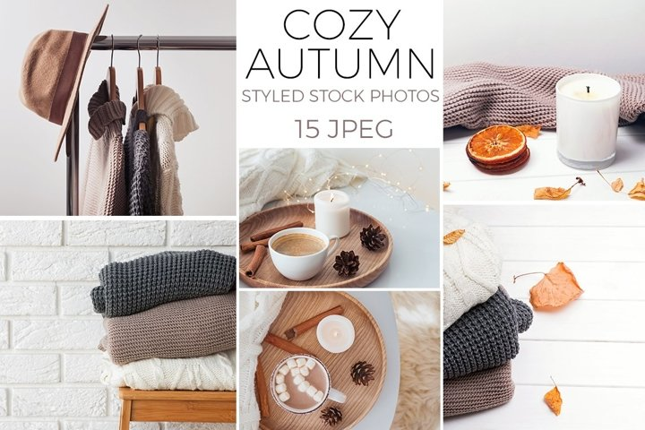 Cozy autumn. Styled stock photo set.