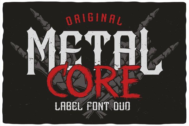 MetalCore Font Duo