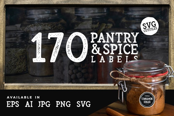 170 Pantry & Spice labels cut files