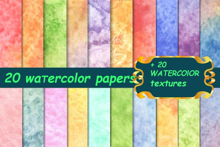 20 soft watercolor papers. Sublimation backgrounds.