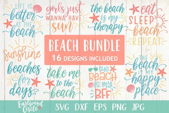 Beach SVG Bundle - Cut Files for Crafters