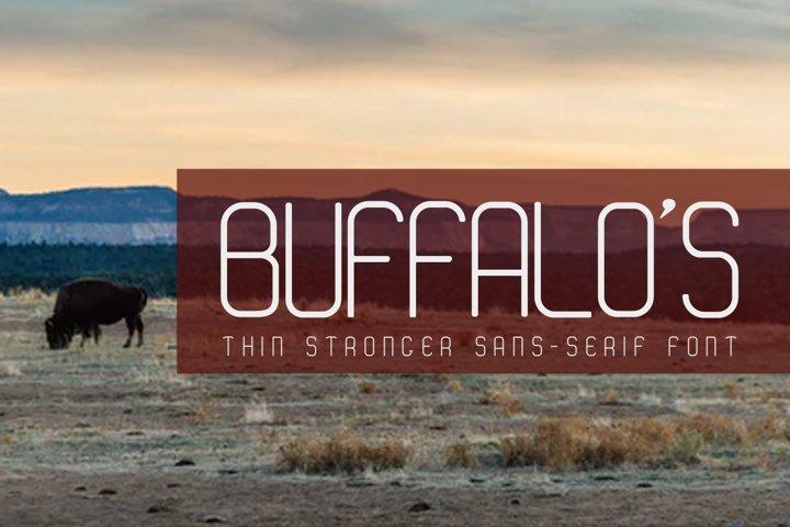 BUFFALOS Thin Stronger Sans Serif Font
