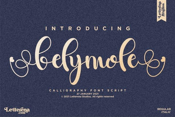belymole - Beautiful Lovely Script Font