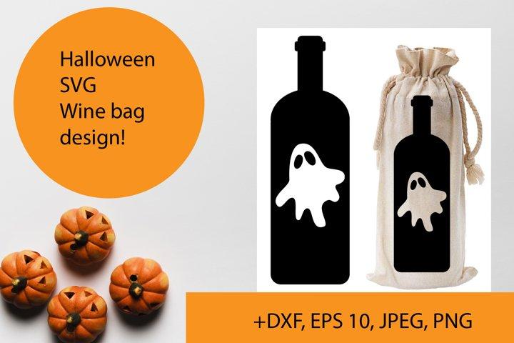 Halloween wine bag SVG design
