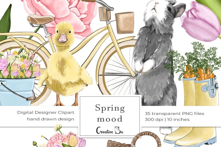Spring Mood - Clipart