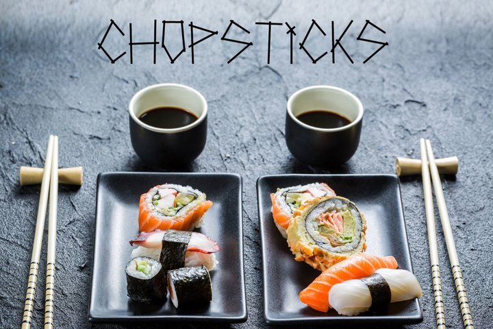 Chopsticks display typeface
