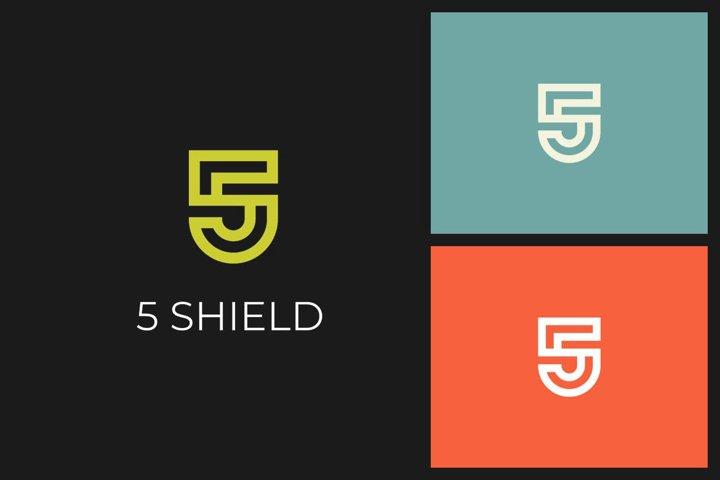 5 Shield S Letter Logo
