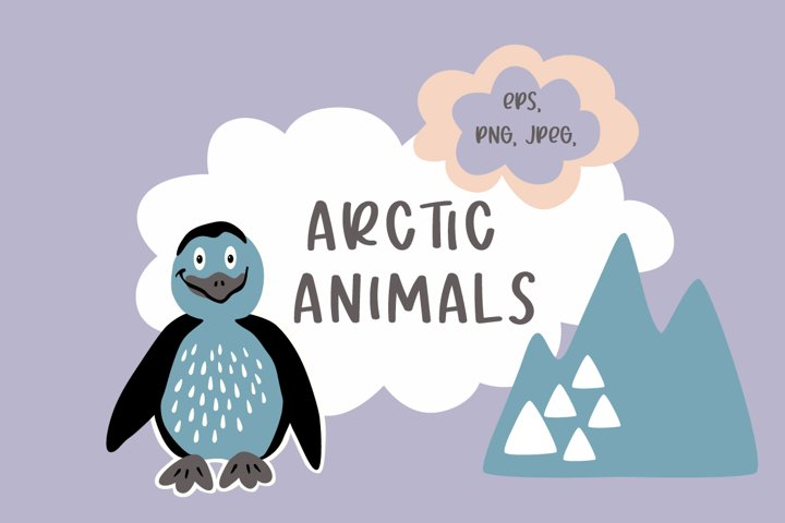 Arctic animals clip art and patterns