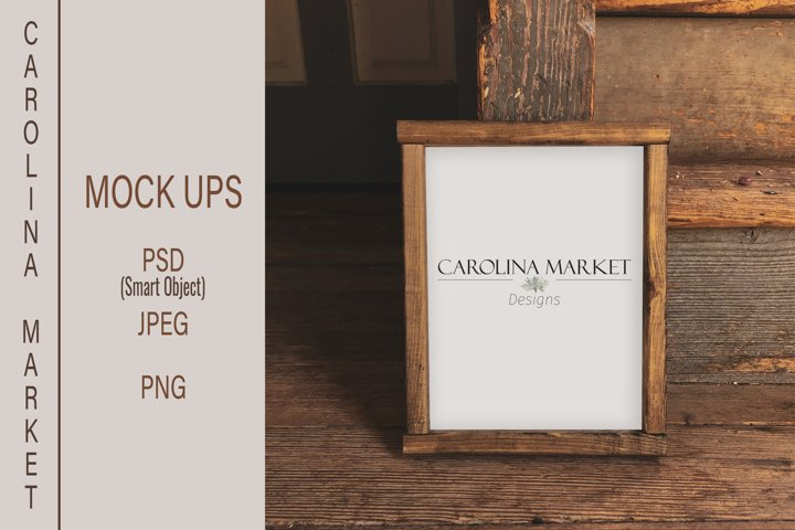 8x10 Wood Sign Mockup| Wood Sign Flat Lay | Stylized Photo