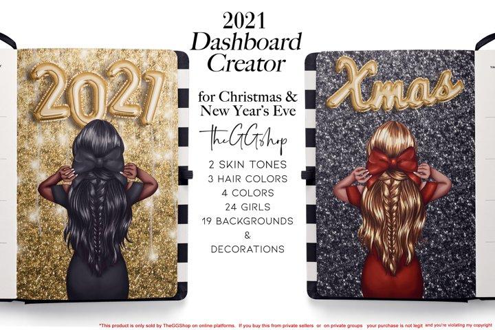 Christmas & New Years Eve Planner Printable Girls set