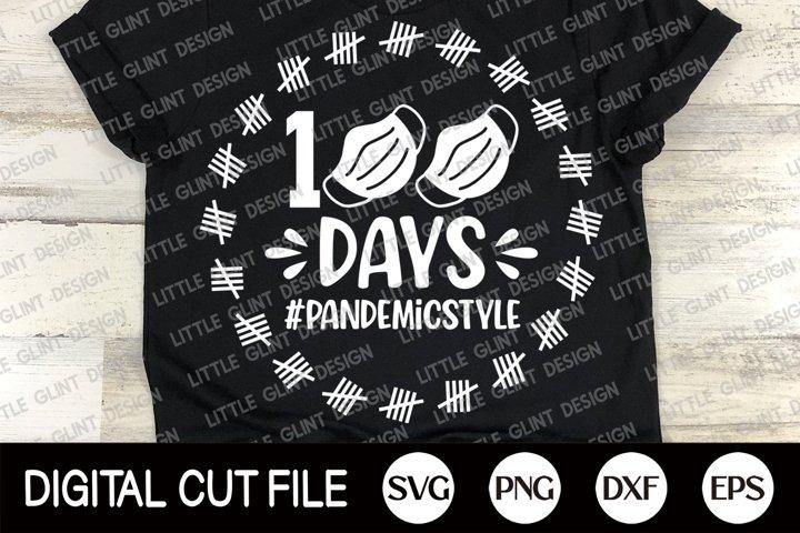 I Survived 100 Masked School, 100 Days Of School Svg, Mask