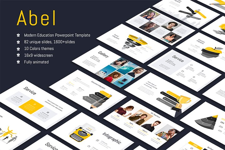 Abel-Education Template Powerpoint
