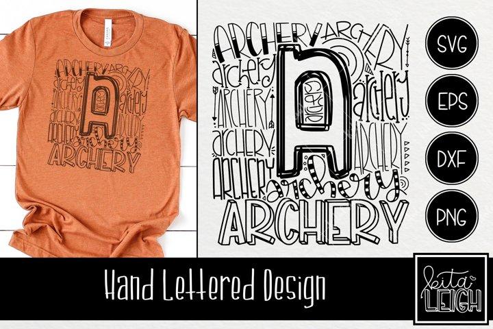 Archery Typography SVG