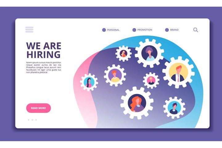 We are hiring concept. Finding employee. Hr job seeking. Ope