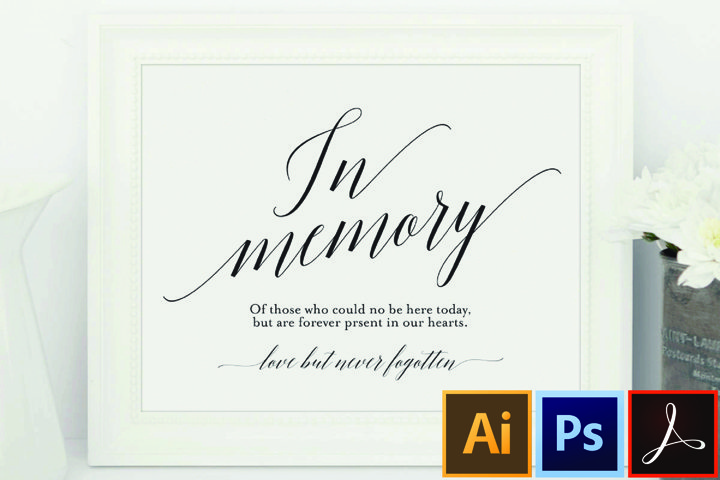 In Memory Sign, In Loving Memory Sign, Memory Sign, Memorial