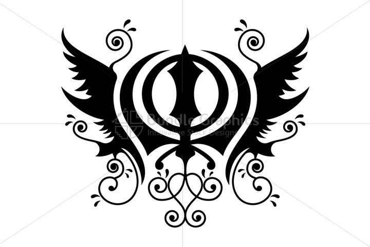 Khanda Sahib - Sikh Religious Illustrative Symbol
