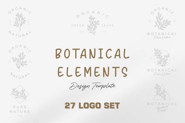 Botanical Elements Design Template .16 logo set