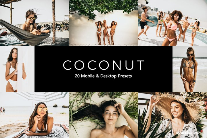 20 Coconut Lightroom Presets & LUTs