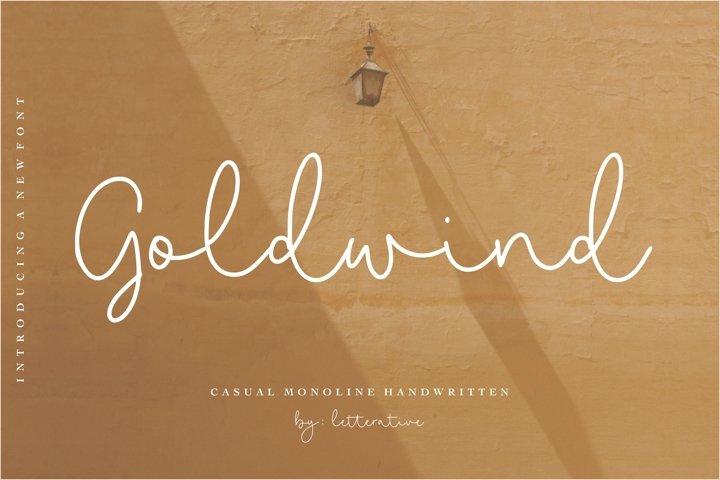 Goldwind Casual Monoline Handwritten Font