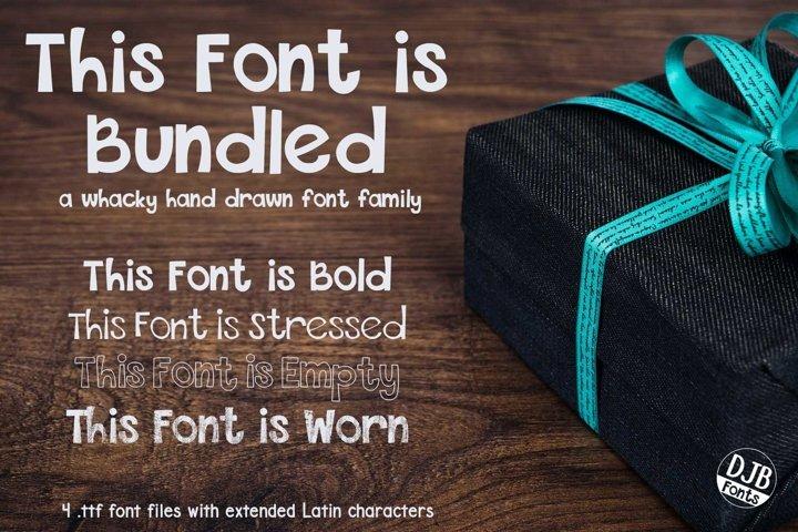 DJB This Font is Bundled