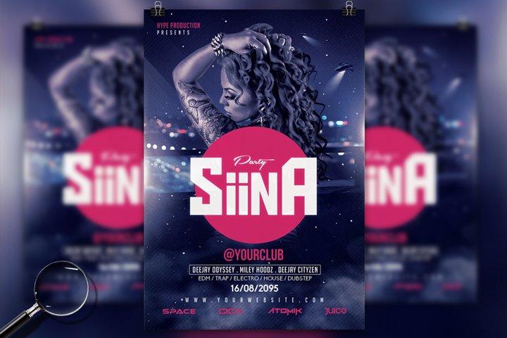Siina | Futuristic Flyer Design