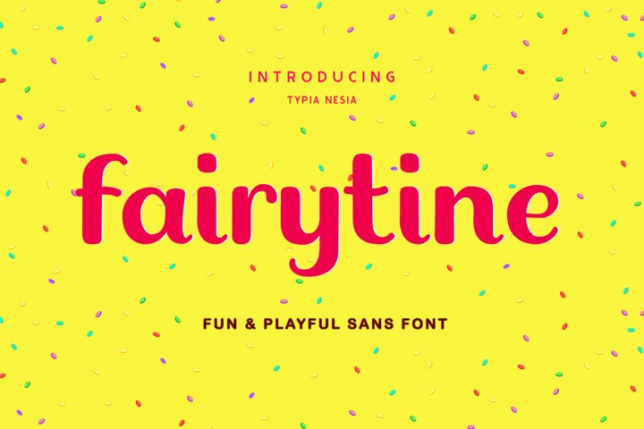 Fairytine Fun Kid Game Font