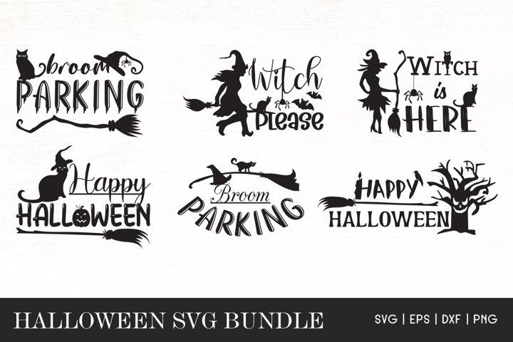 Halloween SVG Bundle - Witch SVG - Broom Parking Parking SVG