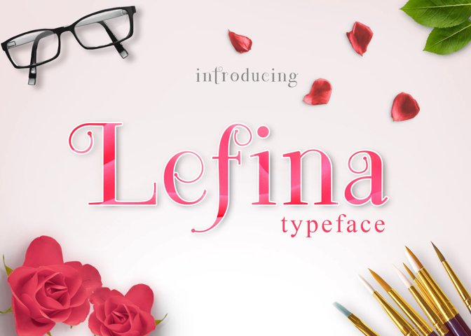Lefina - Free Font of The Week Font