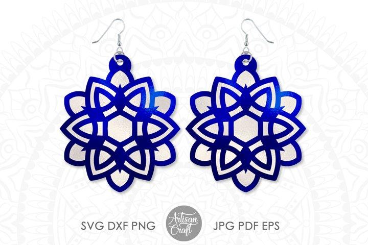 Earrings SVG, Mandala earring SVG, geometric earrings
