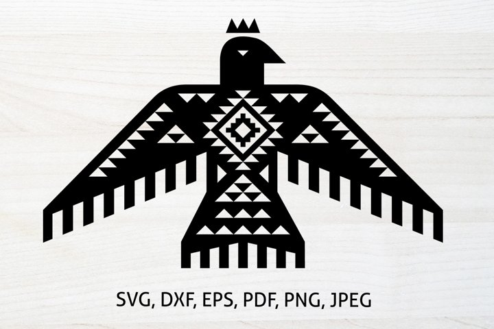 Aztec Thunderbird SVG, PNG, Boho Bird, Native American Eagle