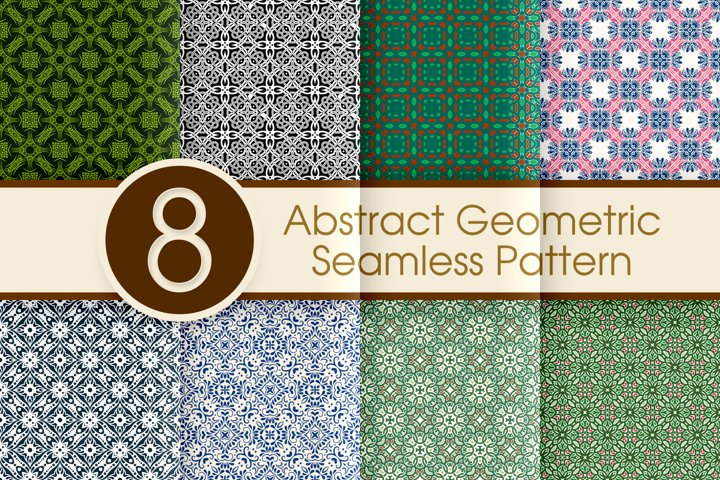 Abstract Geometric Seamless Pattern Collection 002