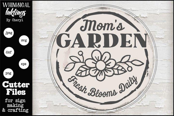 Moms Garden-Round SVG