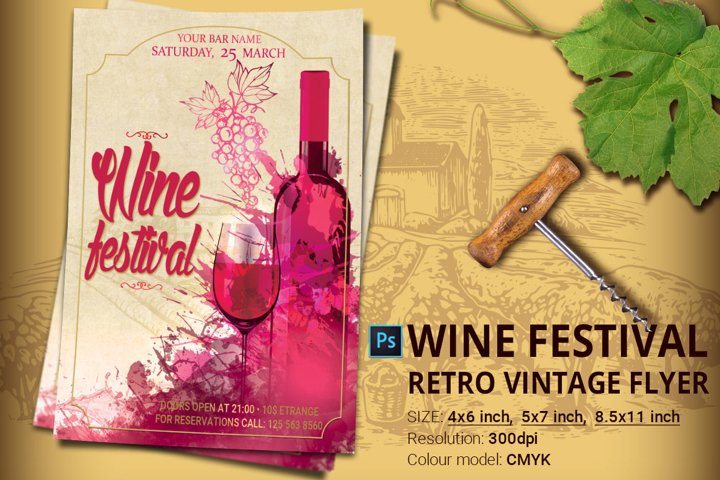 Wine Festival Flyer And Poster