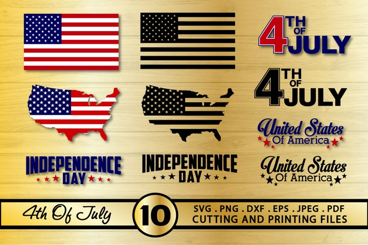 4th of July SVG Bundle Patriotic Bundle American Flag SVG