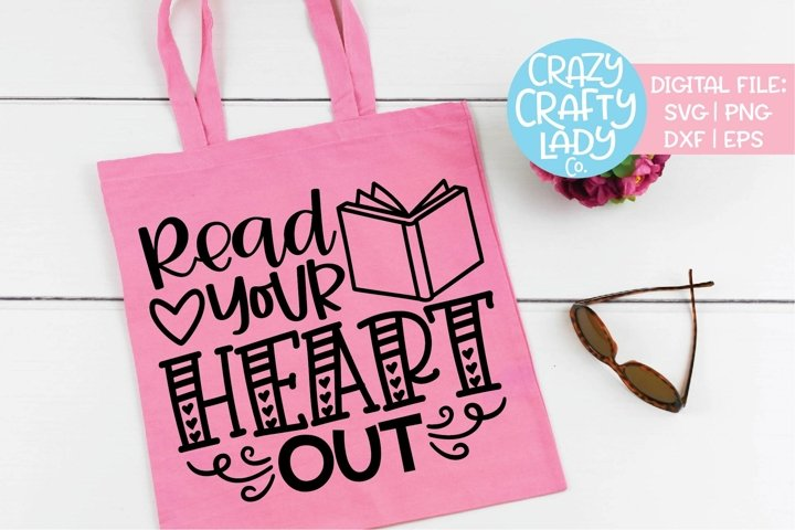 Read Your Heart Out Book SVG DXF EPS PNG Cut File