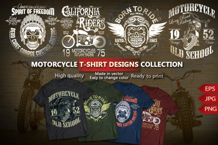 Motorcycle T-shirt design Collection
