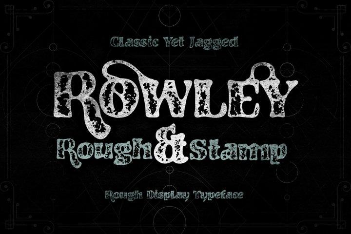 RowleyStamp Rough Display Typeface