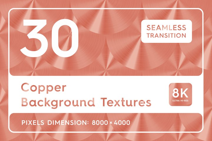 30 Copper Background Textures