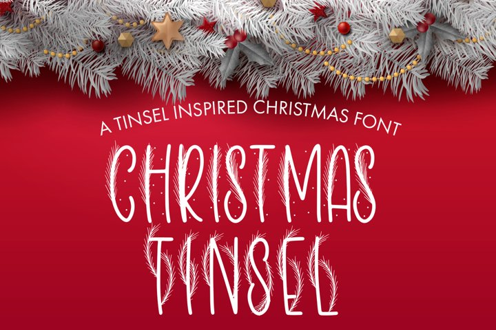 Christmas Tinsel - A Tinsel Inspired Christmas Font