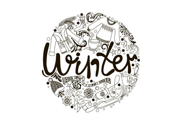 Lettering Winter