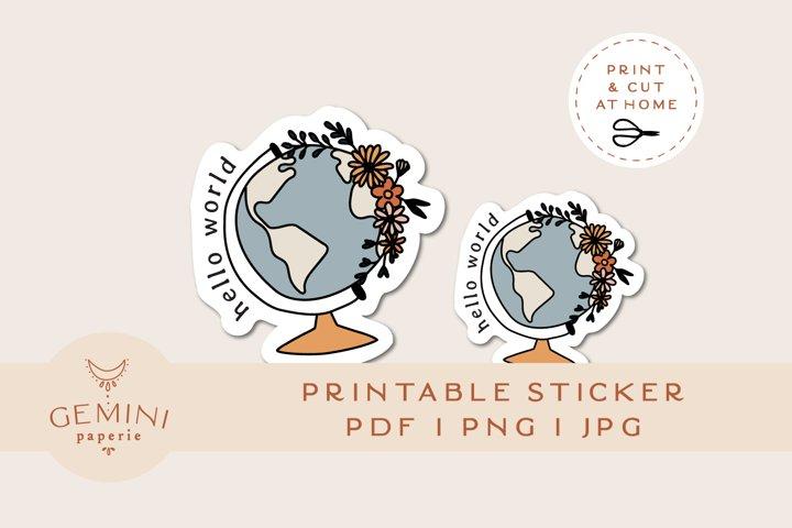 Printable Sticker   Laptop Sticker Print and Cut for Cricut