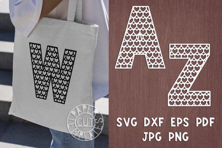 SVG Set of alphabet for Cricut, Silhouette Cameo, laser cut.