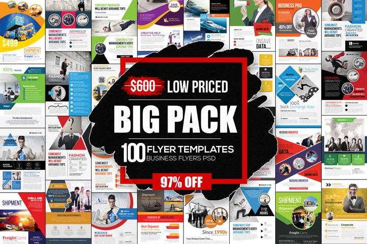 Business Corporate 100 Flyers Bundle