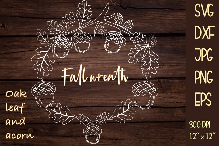Fall wreath SVG. Wreath sublimation or cutting.