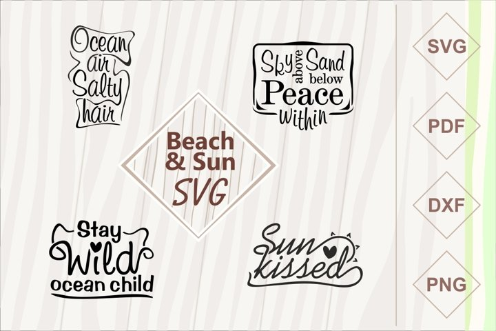 Beach and sun SVG bundle