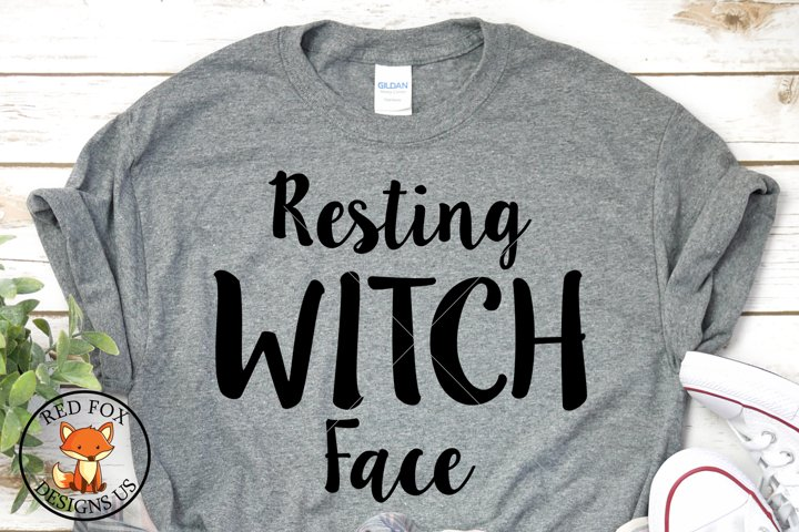 Resting Witch Face SVG | Halloween Cut Files | SVG PNG DXF