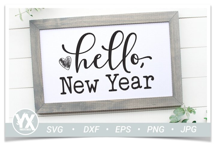 Hello, New Year SVG - New Years SVG